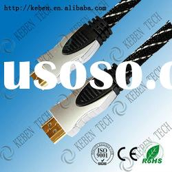 HD 19pin male to male 240hz hdmi cable with gold connector