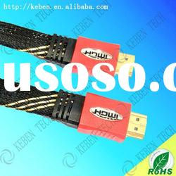 HD 24k gold plated connectors 19 pin flat wire hdmi