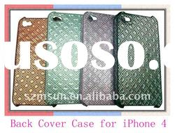Hard Back Cover Case for iPhone4 with Grid Pattern