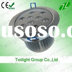 High quality led ceiling down light 9w (Cree XRE led)