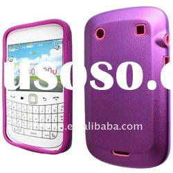 Hot Pink Aluminum Metal Silicone Hard Case cover for BlackBerry Bold 9900 9930