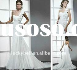 Hot sale New One -Shoulder White Wedding dress