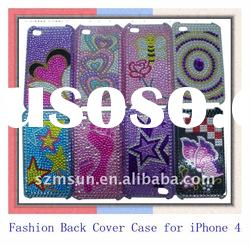 Hot sale Stylish Rhinestone Cell Phone Case for iPhone 4