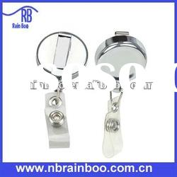 Hot selling novelty high quality retractable metal badge holder for promotion