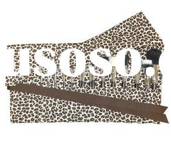 Large Makeup Brush Roll-leopard print bag