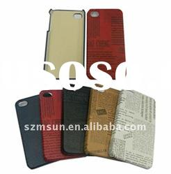 NEW PC + PU Hard Back Cover Case for iPhone 4 with English letters