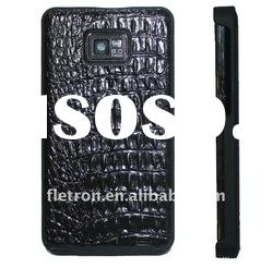 New Black Crocodile Genuine Leather Pouch Back Case For Samsung Galaxy S2 i9100