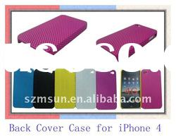 Perforated Mesh Hole Hard Back Case for iPhone 4