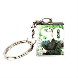 Picture Holder Crystal Photo Keychain