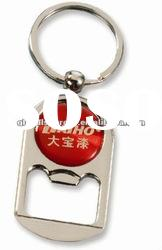 Promotion Beer Bottle Opener Keychain Epoxy Sticker Bottle Opener Key Chain