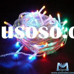 RGB 220V 10M led string light for christmas