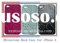Rhinestone Cell Phone Cases for iPhone 4 Back Cover Case