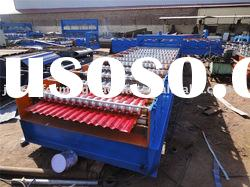 Roofing plate roll forming machine