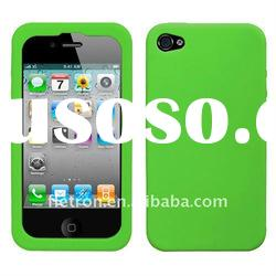 Semi Transparent GREEN Blue Candy Skin Cover (Rubberized) for Apple iPhone 4, 4G, 4S