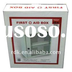 Small Wooden Lockable First Aid Box with Glass Door KD packaging