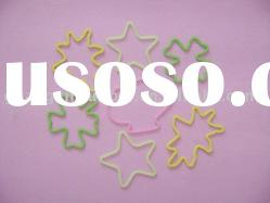 Space shaped silicone rubber band