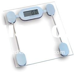 Thick Glass Platform Electronic Bathroom Scale 150kgs