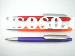 Twist Type Plastic Ballpoint Pen with big Clip for imprint