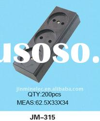 Yiwu No.1 plug with socket enclosure electrical plug socket pins JM-315