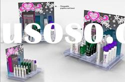 acrylic cosmetic display with high quality