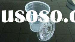 disposable plastic cup pp with lid clear/transparent