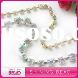 fashion AB color rhinestone cup chain