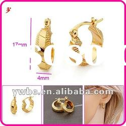 fashion jewelry gold plated brass earring (E630534)