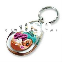 fashion keychain picture frame acrylic key chain display