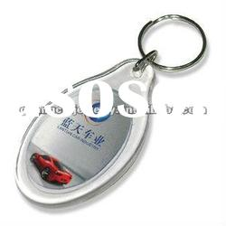 fashion photo picture frame keychain acrylic key chain insert photo