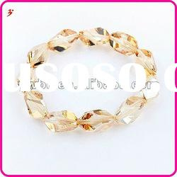 fashion round bracelet with yellow crystal bead jewelry accessory(B100886)