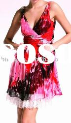 ladies' silk dress, evening dress