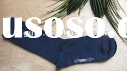 men's blue cotton socks/men's business socks