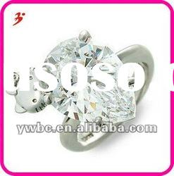 new fashion tear clear zircon ring with hello kity (R100138)
