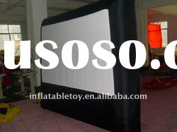 outdoor inflatable movie screen/size/color are customized