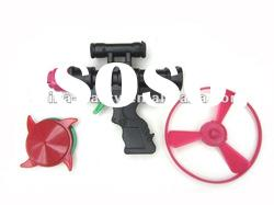 plastic toy flying saucer gun promotion toys