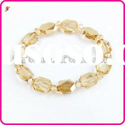 popular square yellow crystal bead Bracelet jewelry(B100884)