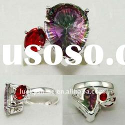 pure handmade mix it jewelry mystic topaz ring