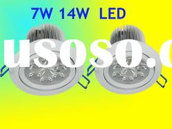 round cree led ceiling down light 7W 14W