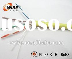 0.45~0.5mm CCA utp cat5e cable flat cable yellow