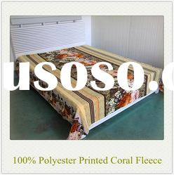 100% Polyester New Design Soft Printed Coral Fleece Blanket