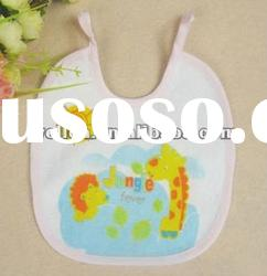 100% cotton terry with printed cute giraffe baby bib