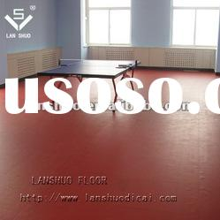 100% pure raw material table tennis court pvc plastic floor covering