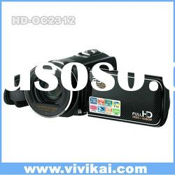 1080P Full HD digital video camera with super optical zoom and touch display