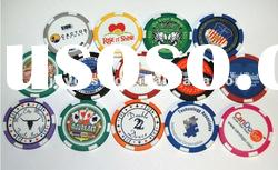12g casino Triple Striped abs Poker Chip
