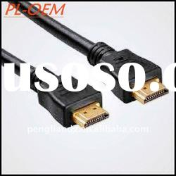 1.4 Version,1080p A-C type 19pin Gold HDMI Cable for mobile phone