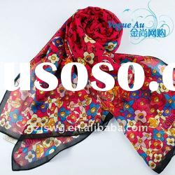 2011 Hot Sole Real silk scarf /long printed shawl scarf / new arrival pashmina scarf
