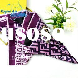 2011 fashion women 100% viscose popular Scarf /square printed scarf/ brand name Shawl Pashmina