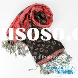 2011 hot sellig new design cotton rose pattern Scarf /long printed scarf/ brand Shawl Pashmina