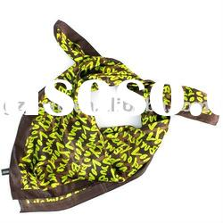2011 new spring fashion scarf silk scarf with logo letter green soft touch