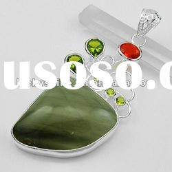 2011 new style jewelry large stone natural gemstone pendants